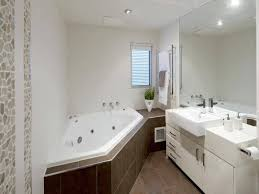 corner bathtub in a small bathroom