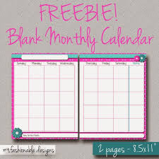 Free Printable 2 Page Monthly Calendar Spring Flowers