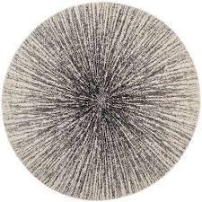evoke black ivory 9 ft x 9 ft round area rug