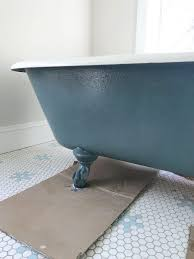the tub existed in the house when we bought it last october saay will be our 1 year house iversary but it was a pretty sad existence as evidenced