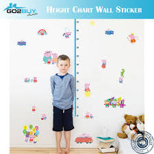 Wall Stickers Removable Peppa Pig Height Kids Nursery Decal Growth Chart B Ebay
