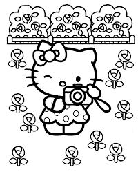 Print out and have fun coloring this beautiful picture! Coloring Pages Of Hello Kitty And Friends Coloring Home