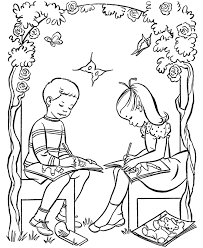 Small Picture Boy And Girl Coloring Pages Coloring Home
