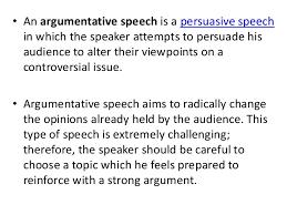 argumentative speech 3 bull an argumentative speech