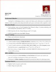 Best Resume Format For Hotel Industry Lcysne Com