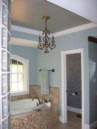 bathtub design chandelier in tray over bathtub figuring the bathroom joseph episcopo sons ceiling chandeliers small