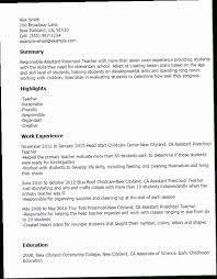 Daycare Teacher Resume ENC40 40 Assistant Preschool Teacher Resume Interesting Daycare Teacher Resume