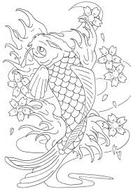 Small Picture Free Koi Fish Coloring Pages vonsurroquen