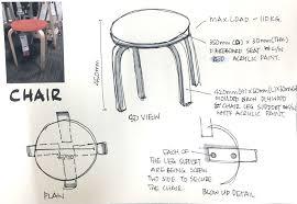 drawn chair elevation 12