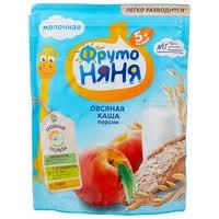<b>Каша ФрутоНяня молочная овсяная</b> с персиком (с 5 месяцев) 200 г