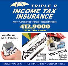 income tax insurance triple r harlingen tx