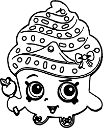 Small Picture Shopkins Cute Cupcake Coloring Page Wecoloringpage
