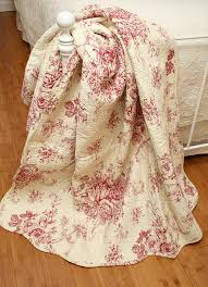 french toile   Ballard French Country Red Toile Quilt Throw ... & french toile   Ballard French Country Red Toile Quilt Throw Adamdwight.com