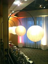 paper lantern chandelier chandeliers lanterns strung from our custom black metal arches create inviting light decor