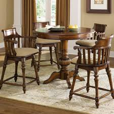 Counter Height Bistro Table Set Pub Table With Chairs Jofran Marin County Merlot 5piece Pub Table