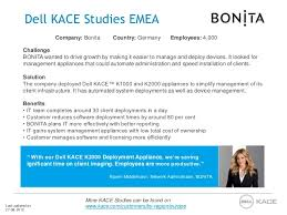 Case Studies Dell Kace Emea
