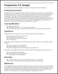 sample computer programmer resume computer programming resume foodcity me