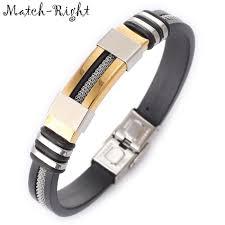 match right men s leather bracelets metal bracelet cuff for men stainless steel bracelets bangles men s wristband br016