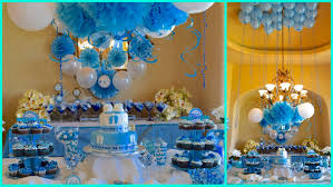 Blue And Gold Baby Shower Decorations Baby Shower Ideas For Boy Blue Theme Youtube