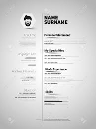 Minimalist Resume Template Minimalist CV Resume Template With Simple Design Vector Royalty 3