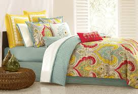 furniture yellow and blue comforter set echo jaipur cal king home kitchen full sheets light sets