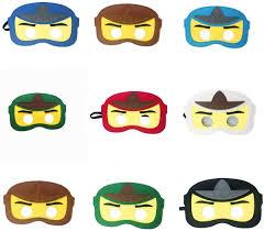8pc Ninja Ninjago Felt Mask Kids Birthday Gift Cosplay Party Supplies Party  Masks for Children: Amazon.co.uk: Toys & Games