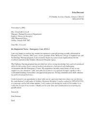 Cover Letter Examples For Nurses New Graduate Nursing New Grad