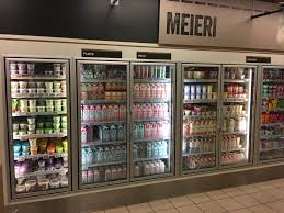 File:Meny Supermarket at Bergen Storsenter, Norway milk yoghurt milk  products Tine Q glass