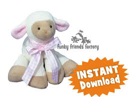 Free Stuffed Animal Patterns Interesting Lamkins Lamb INSTANT DOWNLOAD Sewing Pattern PDF