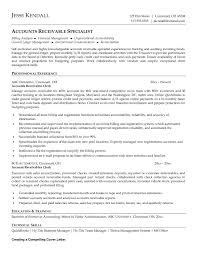Best Ideas Of Accounts Receivable Resume Sample For Your Returns