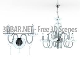 glass chandelier and sconces 3d collection