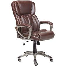 office chairs brown leather. Serta Executive Bonded Leather Office Chair Biscuit Brown Within Desk Design 16 Chairs H