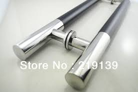 1pair front stainless steel glass door handle pull tubing 24 inches furniture hardware