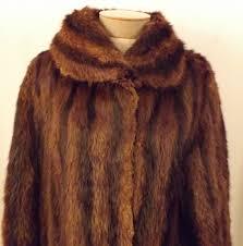 vintage 40 s striped mink fur coat by gittelmans sons size l for