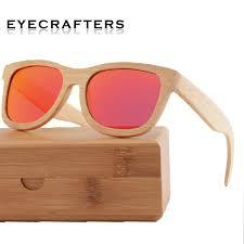 50mm 39mm mens womens brand designer wooden sunglasses polarized retro vintage mirrored sunglasses 100 natural