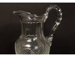 water pitcher cut crystal saint louis france trianon antique pitcher twentieth