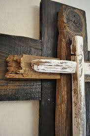 Black and white large cross -One of a kind reclaimed wood cross, shabby  chic cross,western style decor