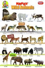 Krazy Wild Animals Chart Buy Charts Product On Alibaba Com