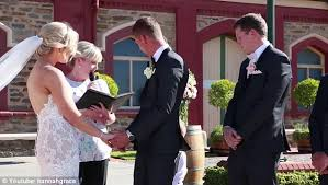 vidoeo of boy interrupting couple s wedding vows saying i need a little hudson tugged on his father s arm to loudly proclaim i need to poo