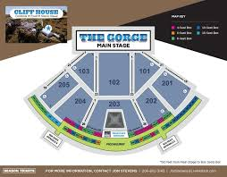 Gorge Amphitheater Seating Chart Vip Seat Sales The Gorge Campground