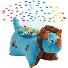 Stuffed Animal Ceiling Night Light Pillow Pets Sleeptime Lites Blue Dinosaur Stuffed Animal Plush Night Light