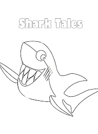 Small Picture Shark Tale Smiling Great White Shark Coloring Pages Batch Coloring