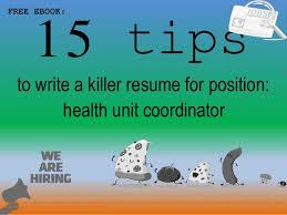 Health Unit Coordinator Job Description Resume Health Unit Coordinator Resume Sample Pdf Ebook