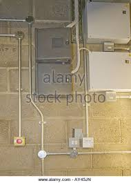 steel conduit stock photos steel conduit stock images alamy electrical steel conduit insallation switches sockets and fuse boxes stock image
