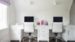 Built In Desk with Shiplap Backsplash