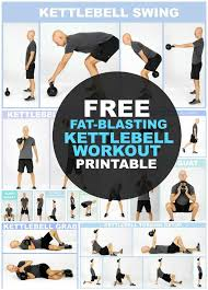Printable Kettlebell Workout Chart Pin On Health Fitness
