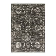 loloi kingston charcoal silver indoor distressed area rug common 2 x 4
