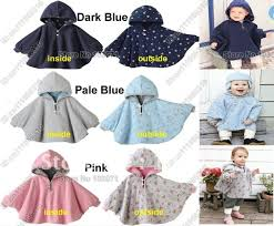 Fleece Poncho Pattern With Hood Gorgeous New Cute Baby Kid Toddler Newborn Winter Reversible Thickening