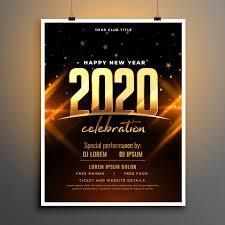 <b>Beautiful 2020</b> new year celebration poster template <b>design</b> Free ...