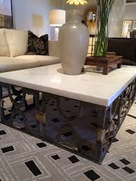 stone coffee table. Mesmerizing Design Of Stone Coffee Table Beautified With Giant Ceramic Vase And Glass B